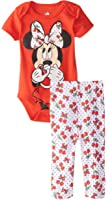 Disney Baby Girls' Minnie Mouse Bodysuit and Pant Set