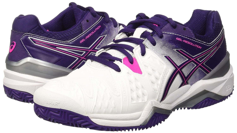 Gel De Resolución 6 Zapatillas De Tenis De La Mujer Asics - Blanco / Violeta / Rosa fOhXn