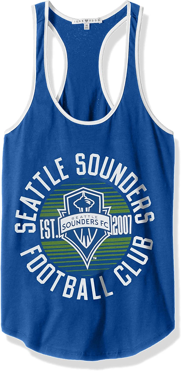 X-Large MLS Seattle Sounders FC Womens Womens Ringer Tank Top lb//Sun