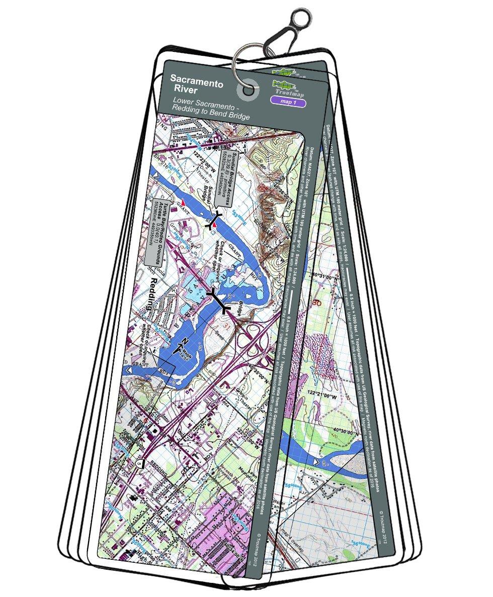 Amazoncom Lower Sacramento River Map Set California Redding To