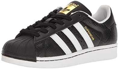 833825cbd5dd adidas Originals Boys  Superstar Reptile J Running Shoe Black White
