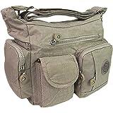 Damen Handtasche Crinkle Nylon Umhängetasche Schultertasche Tasche Shopper Bag