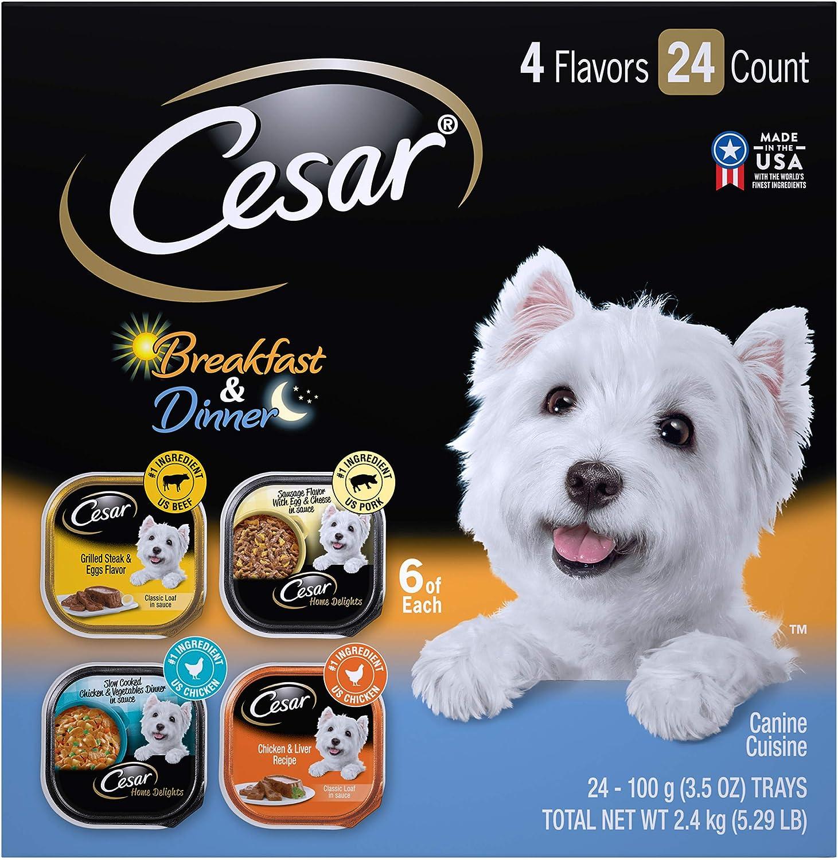 Cesar Gourmet Wet Dog Food Variety Packs – 24 Trays