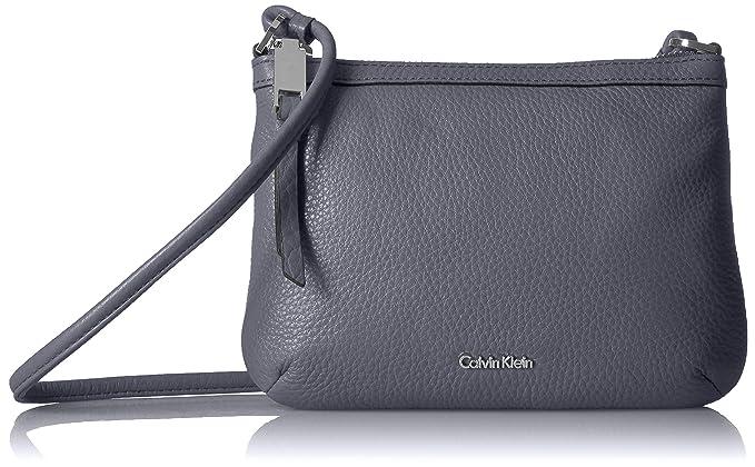 28e1856cdc Calvin Klein womens Calvin Klein Small Key Item Pebble Leather Crossbody