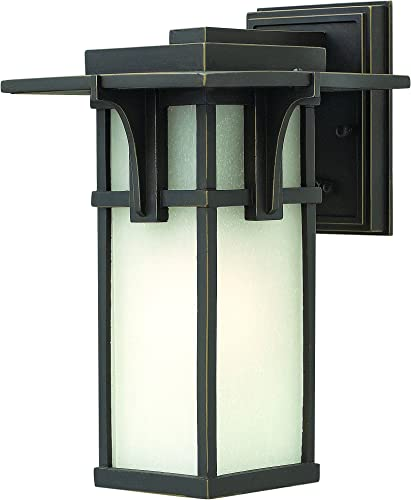 Progress Lighting P6031-108 Transitional One Light Wall Lantern from Refuge Collection Dark Finish, Oil Rubbed Bronze