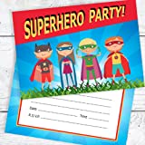 30 pack x children s birthday party invitations mixed superhero