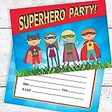 20 children s birthday party invitations mixed superhero costumes