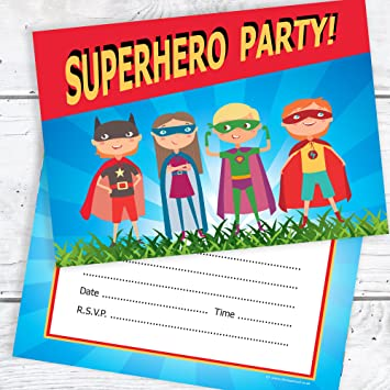 olivia samuel superhero party invitations kids super hero birthday