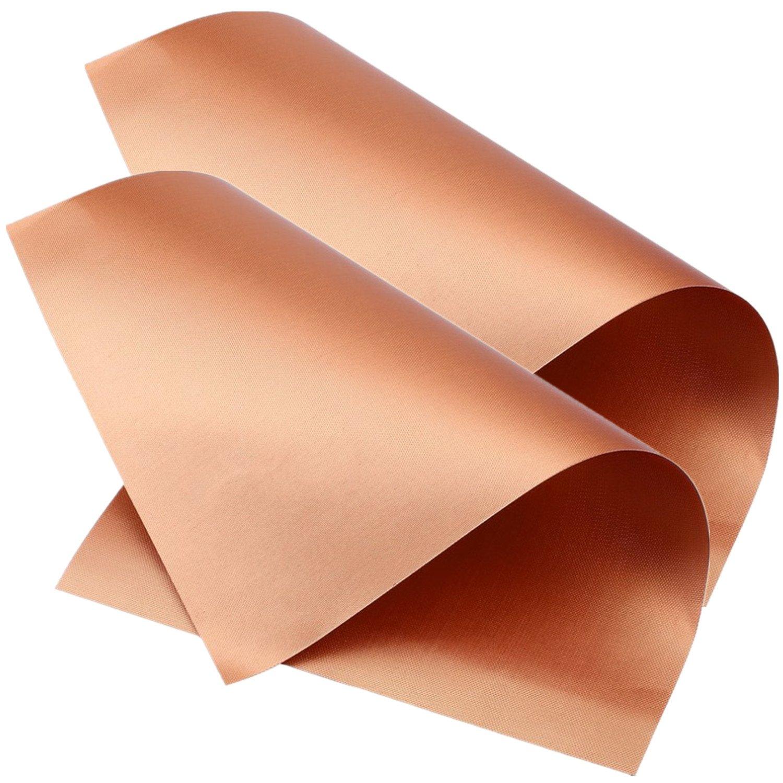 qminus alfombrilla de barbacoa parrilla de cobre conjunto de alfombrilla de 2 - antiadherente para barbacoa Grill & Baking Mats - aprobado por la FDA, ...