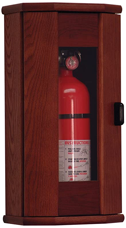 Amazon.com: Wooden Mallet Fire Extinguisher Cabinet, 10-Pound ...