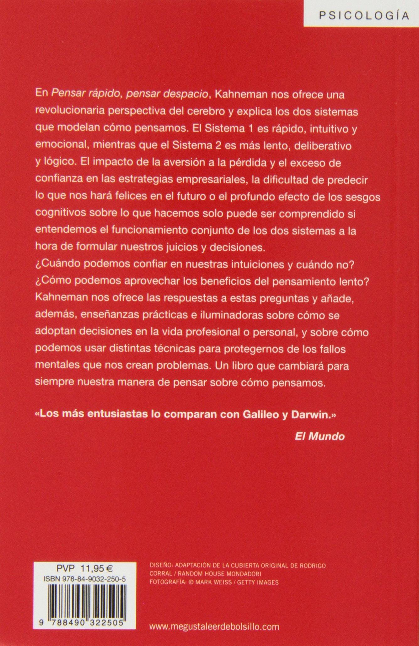 Pensar Rapido Pensar Despacio Psicologia Debolsillo Spanish - Que es us zip code