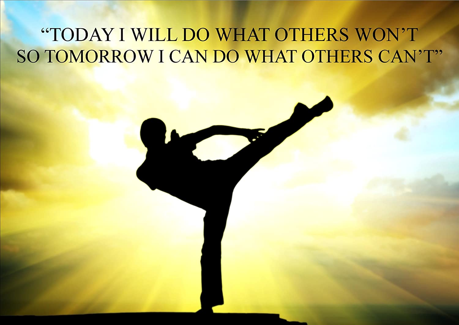 Karate kung fu martial arts quote inspirational poster print picture karate kung fu martial arts quote inspirational poster print picture a32 amazon kitchen home voltagebd Image collections