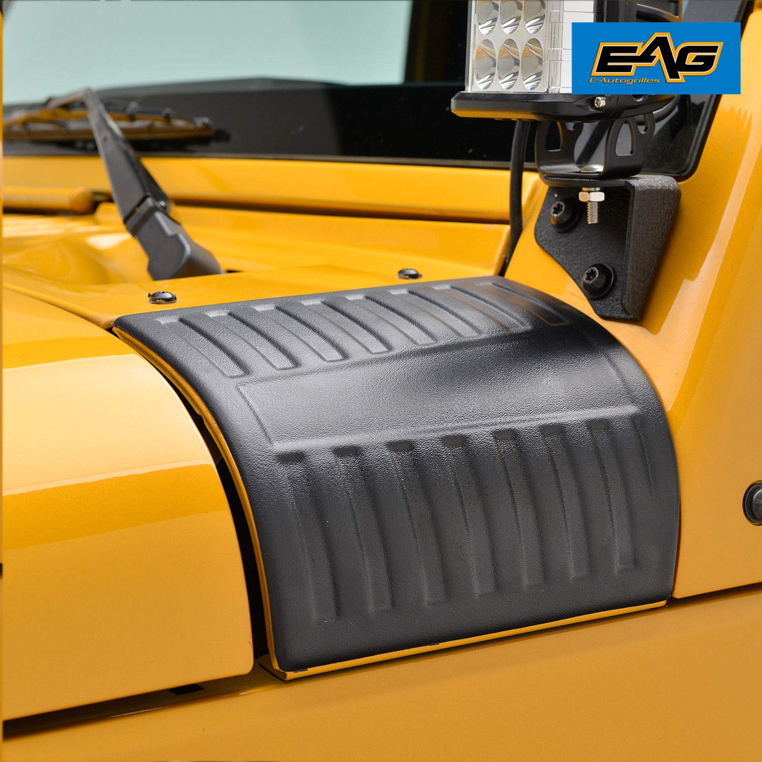 Amazon com eag cowl body armor cowl guard for 07 18 jeep wrangler jk pair automotive