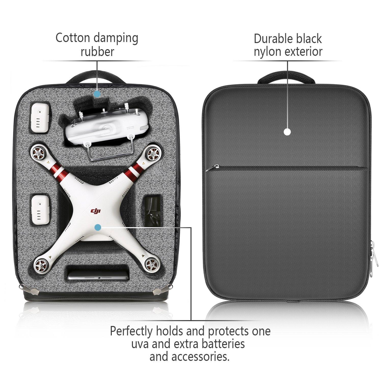 Neewer Mochila UAV estancas con acolchada desmontable, bolsa de ...