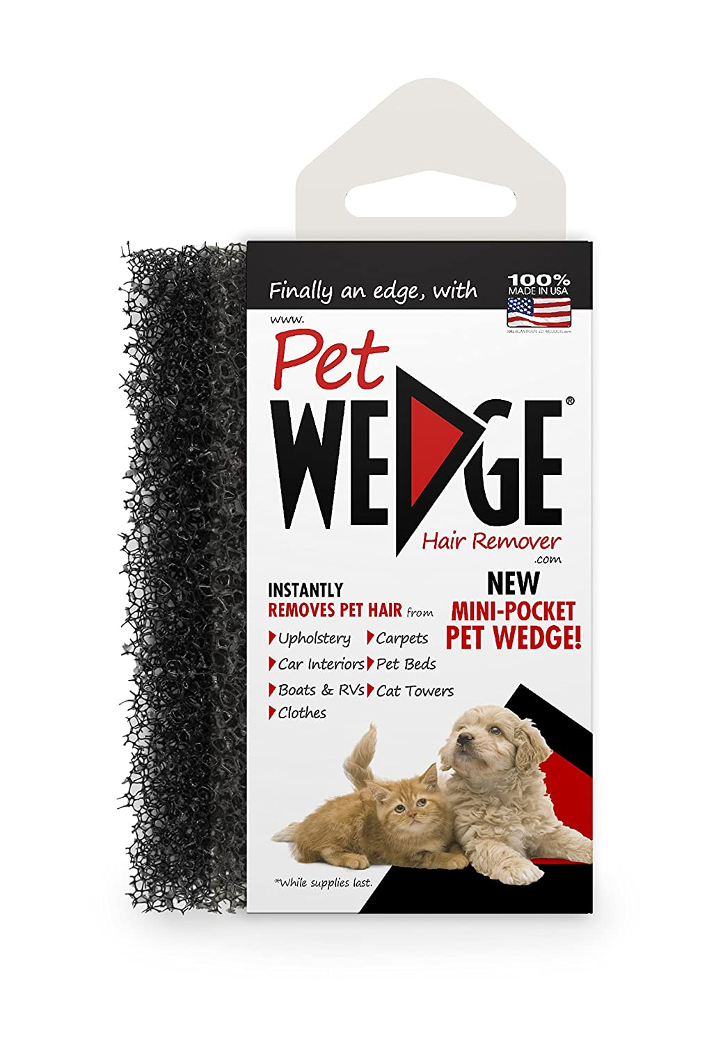 : Amazon.com: Pet Wedge Hair Remover- 2 Pack Pet Wedge & 2 Free Mini-Pocket Pet Wedge. Bonus Pack