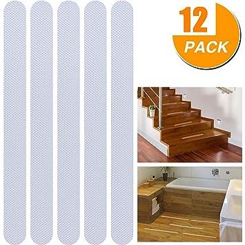 Tiras de seguridad antideslizantes para escalera y suelo, transparentes. Uso en interior/exterior