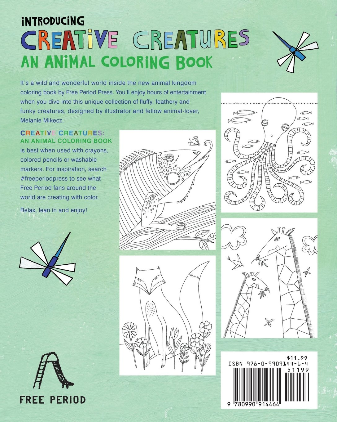 Animal kingdom coloring book gorilla - Creative Creatures An Animal Coloring Book Melanie Mikecz 9780990914464 Amazon Com Books