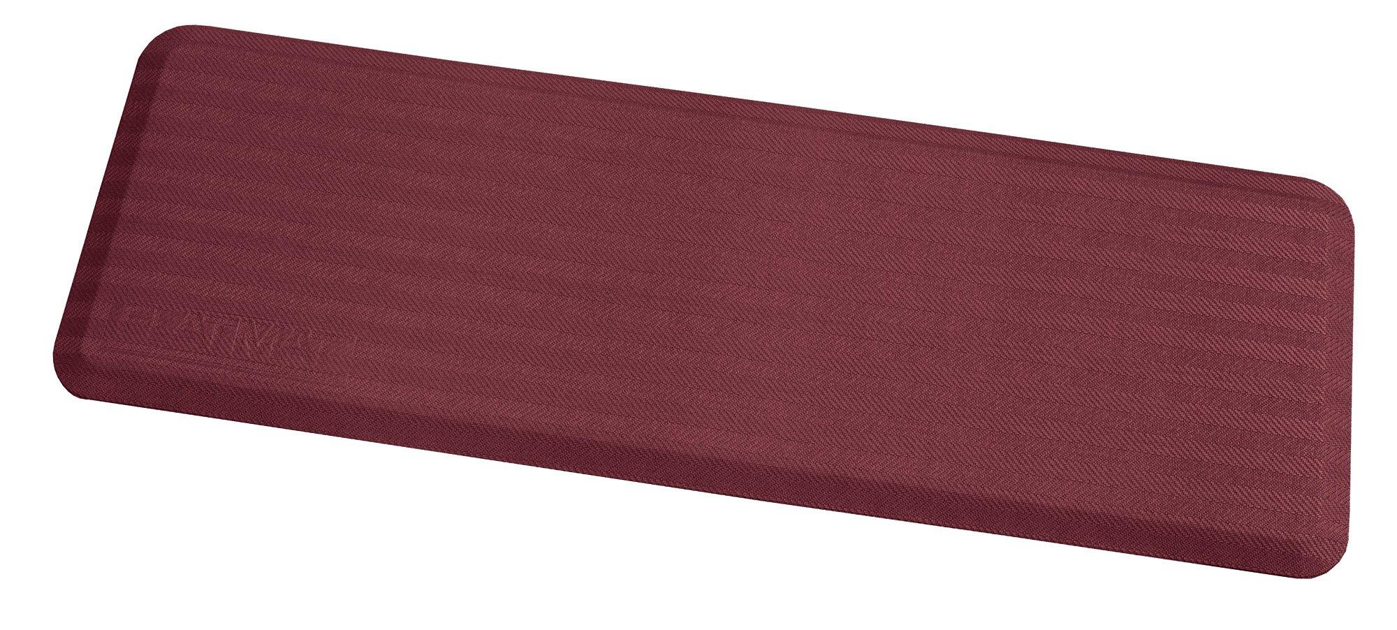 Arrowhead Healthcare Supply P-107350-36-06 FLATMAT, 36'' Wide, Bedside Fall Mat, Burgundy, Woven Pattern