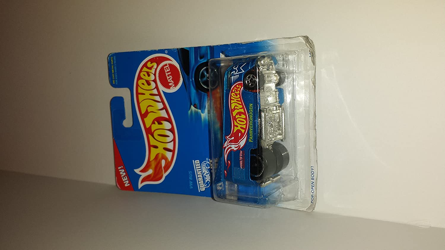 Hot Wheels - 1996 First Editions - 6 of 12 - VW (Volkswagen) Bus - Blue Body Color w/graphics - Collector 372 by Hot Wheels