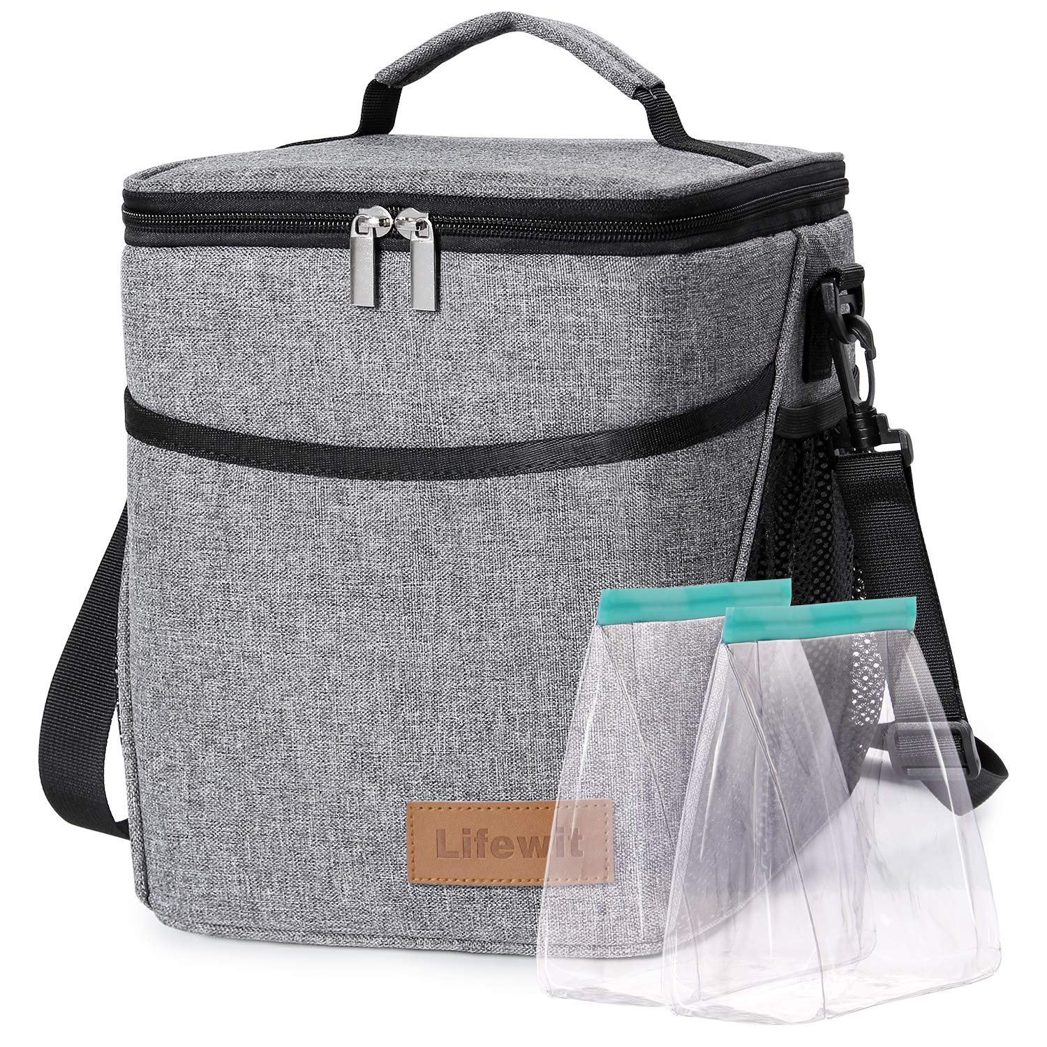 Lifewit Lunch Box for Adult 9L Insulated Large Lunch Bag Leakproof Thermal Bento Bag for Work, Grey by Lifewit