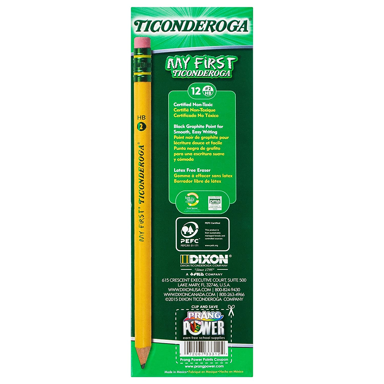 Amazon.com : ticonderoga wood cased my first pencils 2 hb soft pre