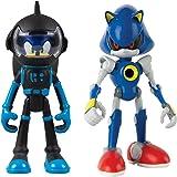Sonic The Hedgehog Sonic Boom and Metal - Figuras articuladas de 7,6 cm (2 unidades)