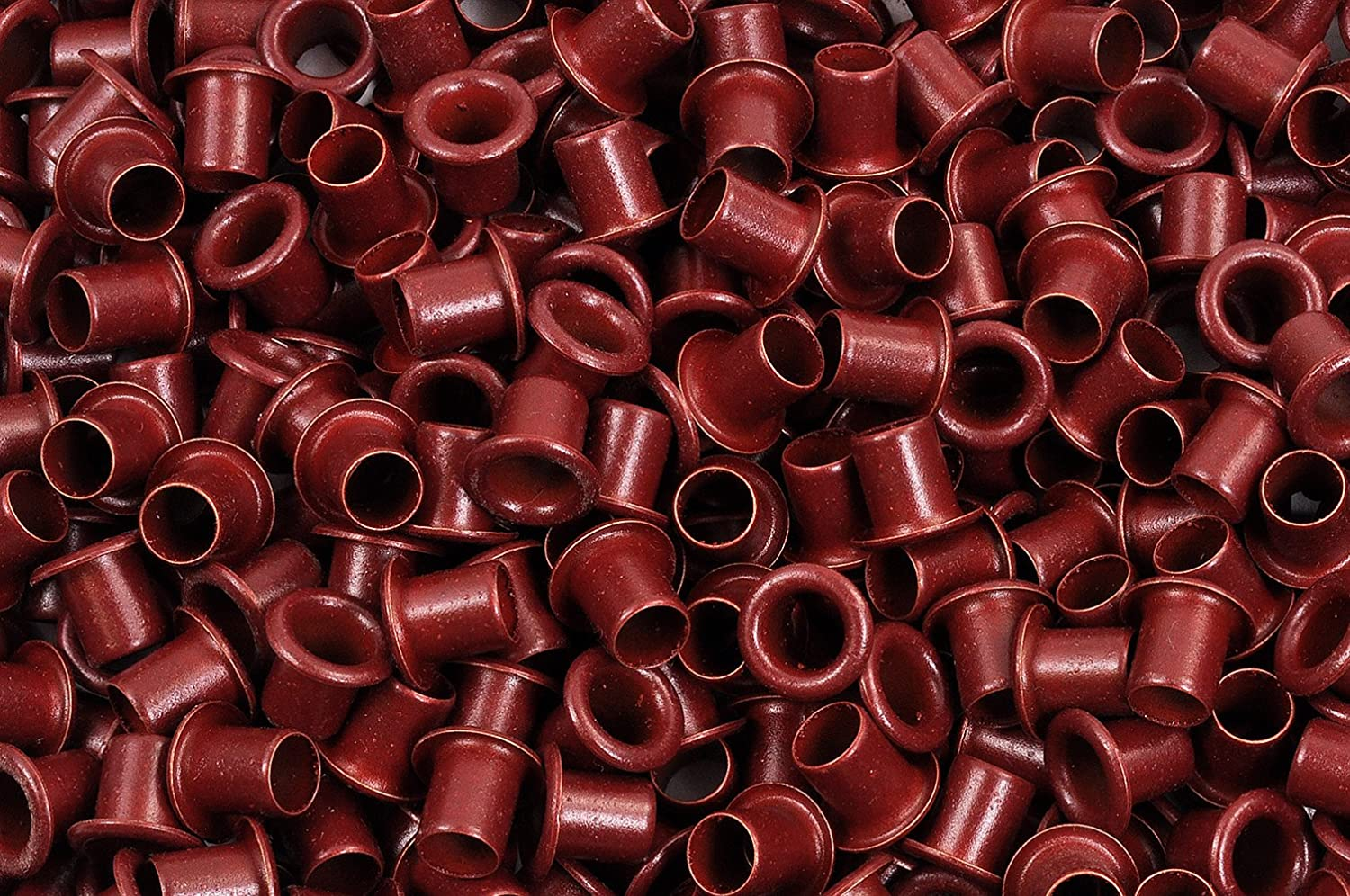 1//4 Blood Red Powder Coated Eyelets 50 Pack