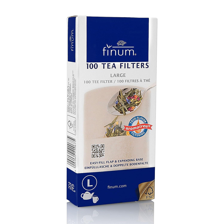 Finum 100 Tea Filters, Large, Brown 60/420.67.00