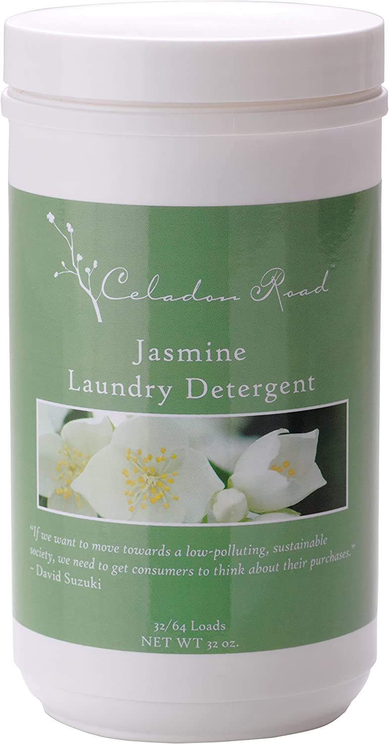 Celadon Road Jasmine Laundry Detergent All Natural Ingredients Made in USA Ultra Concentrated - Sulfate-Free and Phosphate Free - 64 HE Loads 32oz