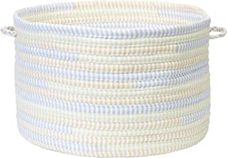 product image for Colonial Mills Ticking Stripe Utility Basket, 14 by 10-Inch, Starlight