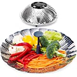 """Vegetable Steamer Basket, X-Chef Stainless Steel Vegetable Steamer with Extendable Handle (7.2"""" Expands to 11"""" )"""