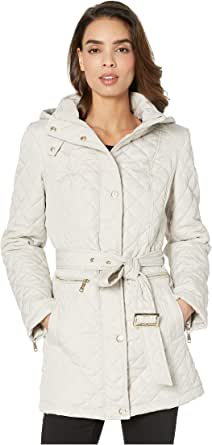 Vince Camuto Womens Quilted Belted Trench V19703