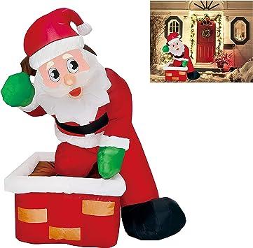 Amazon.com: Joiedomi 5 pies hinchable Santa Claus LED luz ...