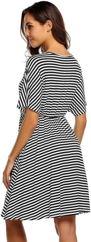 EKOUAER Damen Delivery//Arbeit//Schwangerschaft//Stillen Schwangerschaft Nightgown Kleid f/ür Krankenhaus Stillen Kleid