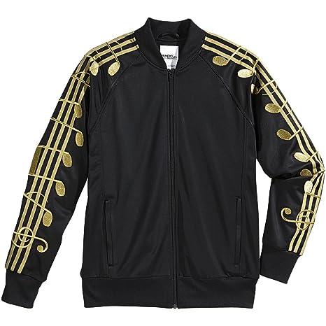 sale retailer f496f 475df adidas Original by Jeremy Scott Gold Music Note Track Jacket, m66603, Nero,  Nero