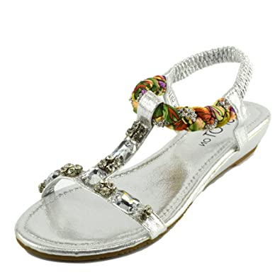 8d6083a420a Kick Footwear Womens Gladiator Summer Beach FLIP Flop Holiday Sandals Shoes   Amazon.co.uk  Shoes   Bags