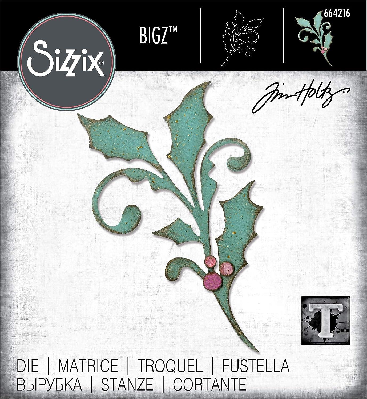 Multicolor Sizzix 664216 Seasonal Scroll by Tim Holtz Dies
