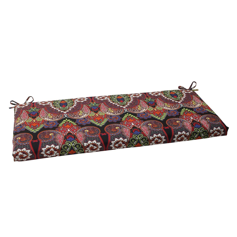 Pillow Perfect Outdoor Marapi Bench Cushion, Black