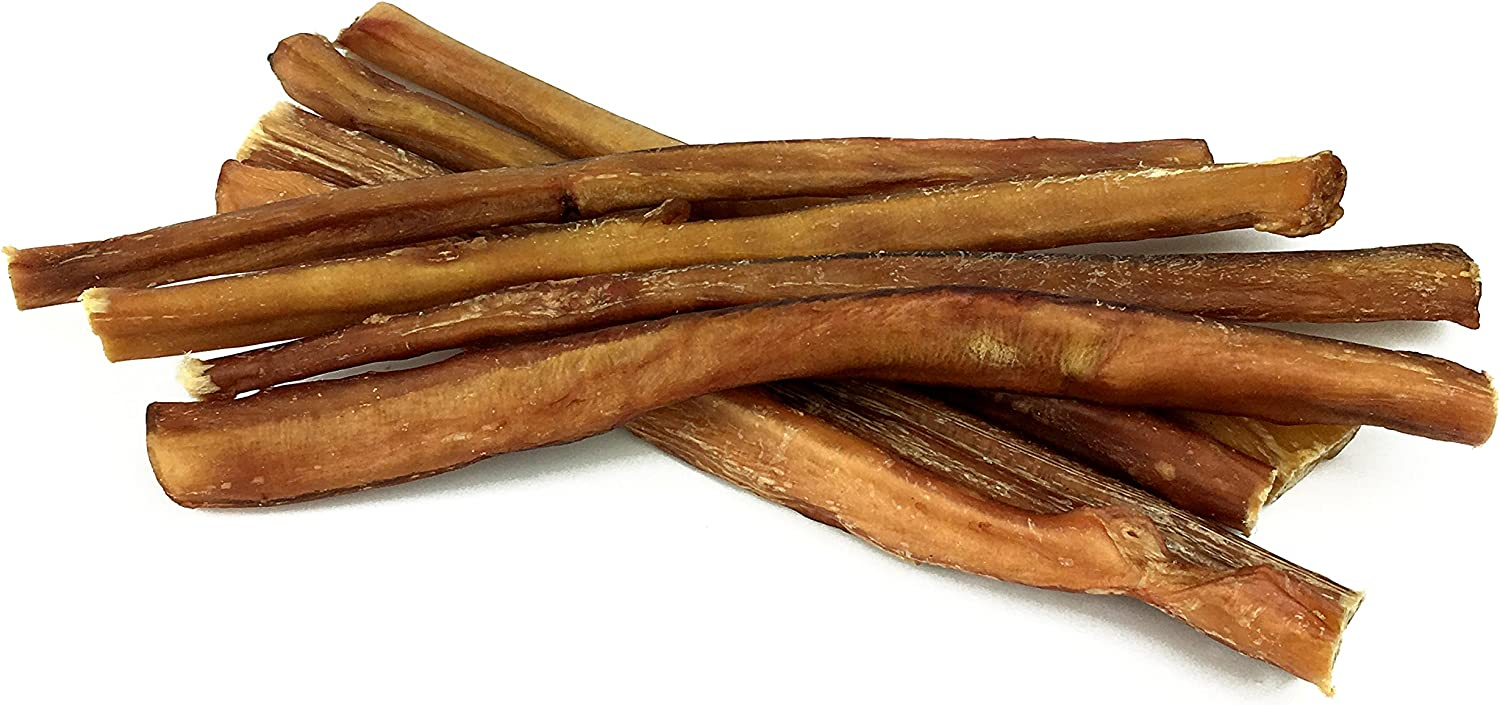 Peppy Pooch 12 Bully Sticks 8 Pack, All Natural Beef Chews For Dogs, USDA FDA Approved