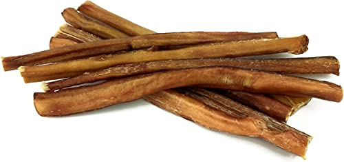Peppy Pooch 12 Bully Sticks 8 Pack, All Natural Beef Chews for Dogs