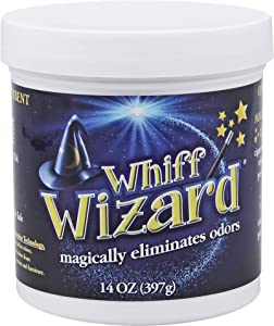 Whiff Wizard Natural Air Purifying Charcoal Odor Absorber Eliminator Neutralizing Gel - Powerful Infused Gel Magically Removes Pet Odors, Cigarette Smoke Odor
