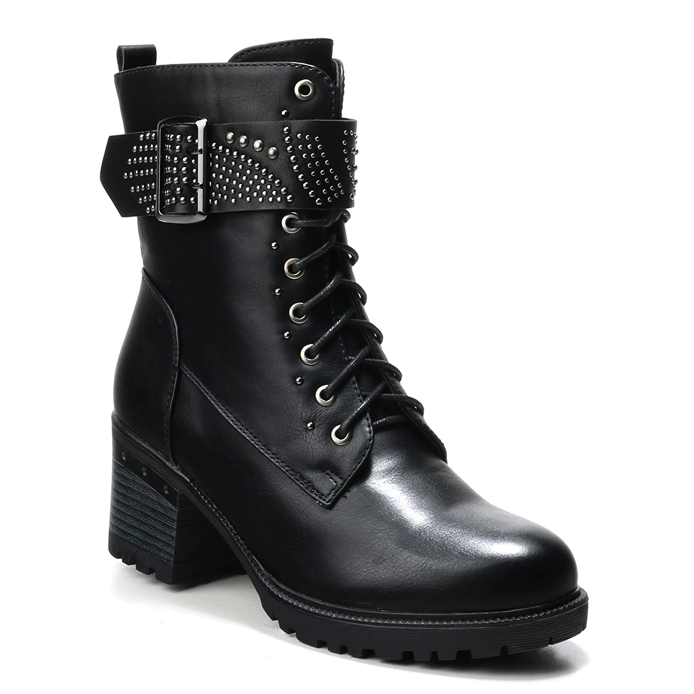 HERIXO Damen Schuhe Stiefeletten Stiefel Regenstiefel
