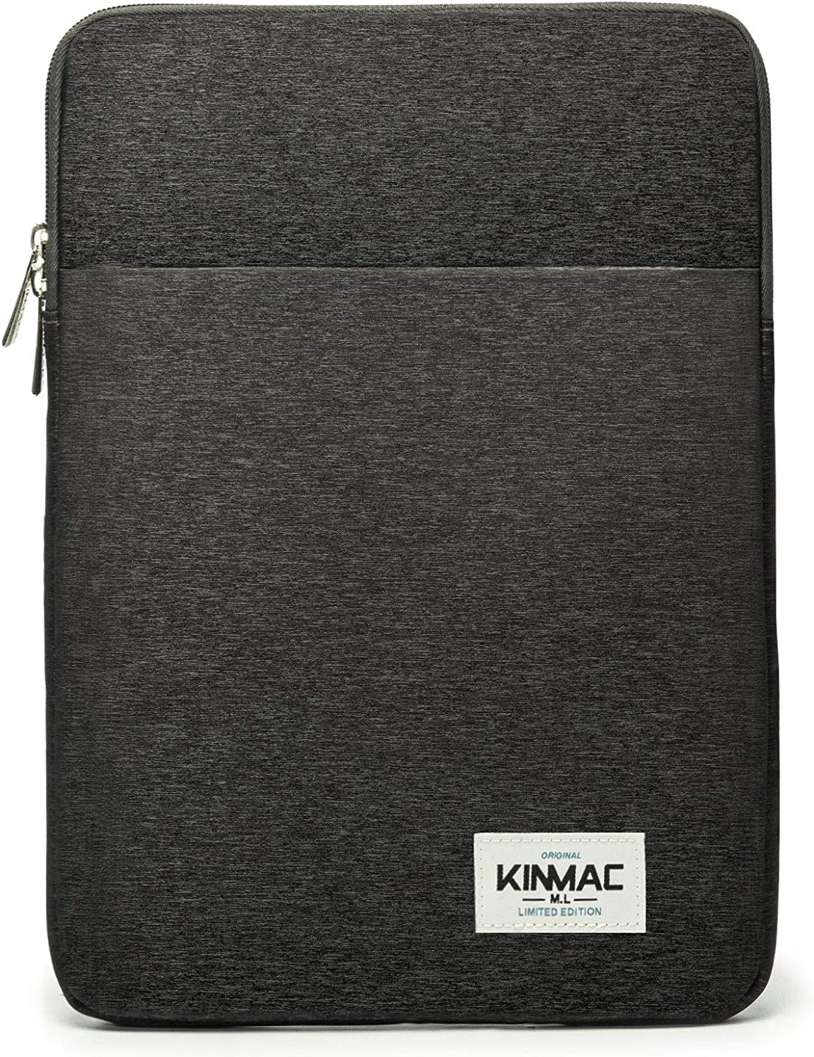 Kinmac Snow Black Color 360 Degree Protective Vertical Style Waterproof Laptop Sleeve with Pocket (15 inch-15.6 inch)