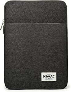 "Kinmac Black 360° Protective Canvas Vertical Style Waterproof Laptop Sleeve with Pocket for iPad 12.9"",MacBook 12"",New MacBook Air 13"" Retina,New MacBook Pro 13""(2016-2018) and 12.5 inch Laptop"