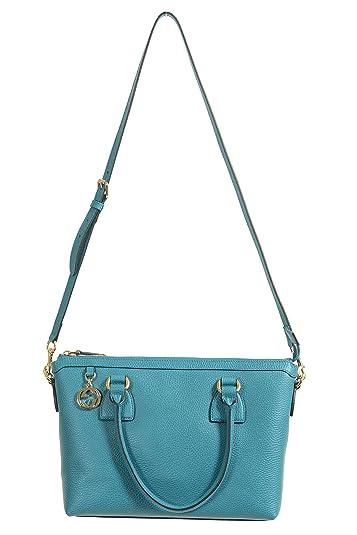 834559ff3ea5 Image Unavailable. Image not available for. Color  Gucci Women s Pebbled  Leather Ocean Blue Satchel Handbag Bag