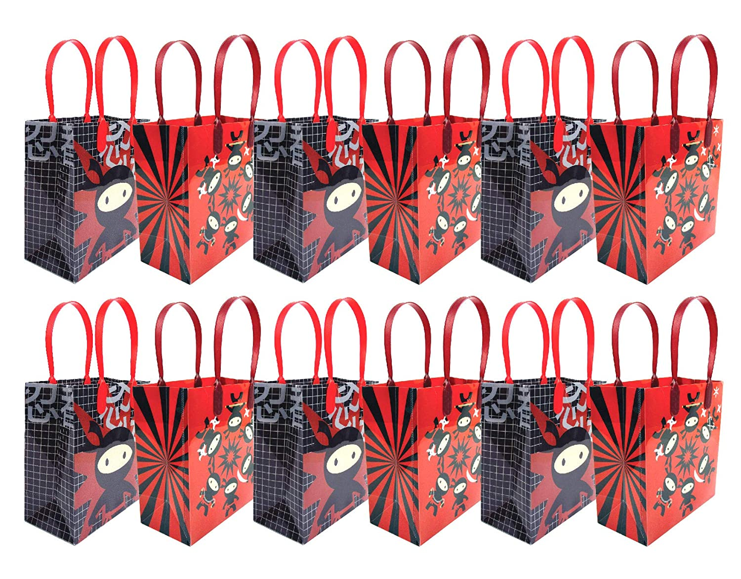 Ninja Themed Party Favor Bags Treat Bags, 12 Pack