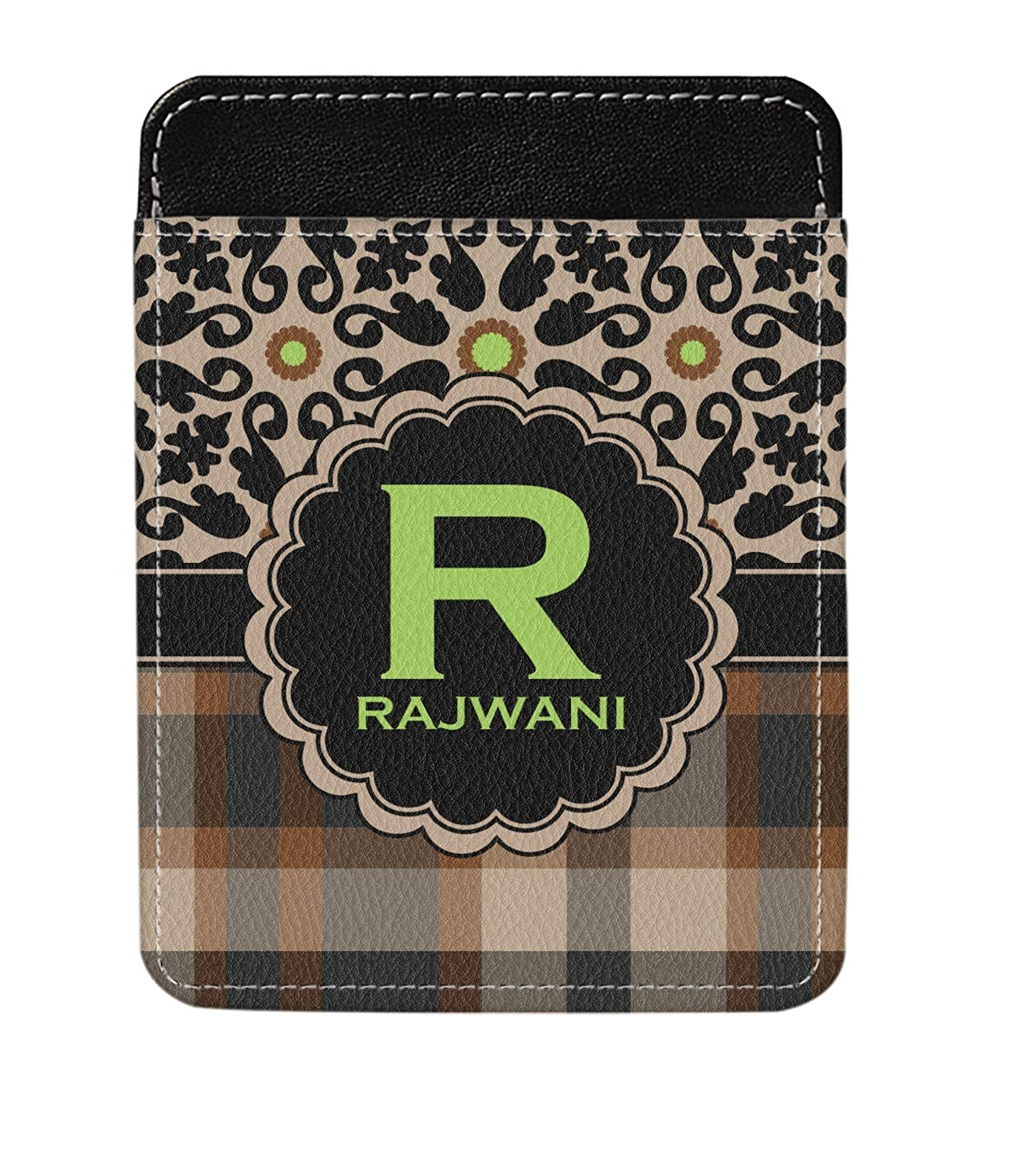 Moroccan Mosaic /& Plaid Genuine Leather Money Clip Personalized