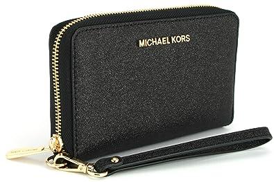 d73ed90e65afd1 Michael Kors Giftables LG Flat MF Phone Case Leather - Black ...