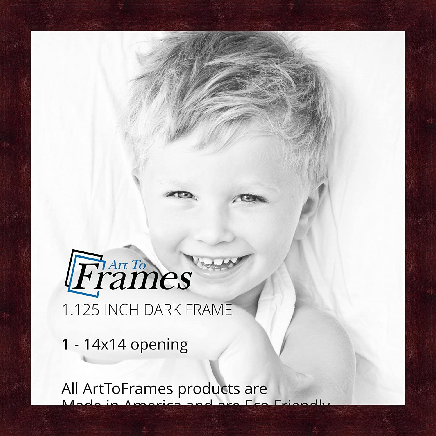 ArtToFrames 4x6 inch Black Stain on Hard Maple Wood Picture Frame WOM0066-71206-YBLK-4x6