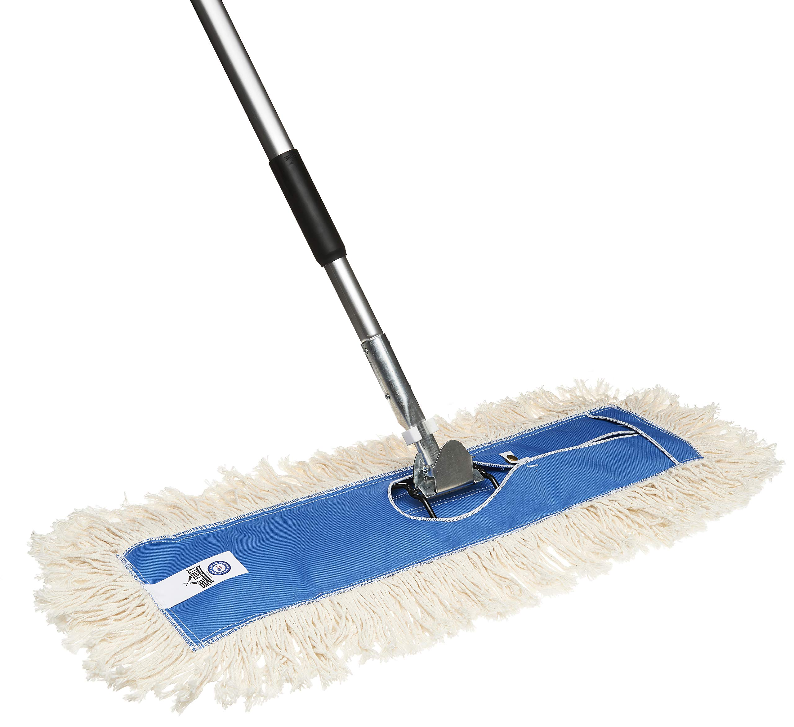 Nine Forty Residential | Commercial 24 Inch USA Cotton Hardwood Floor Dry Dust Mop Head | Handle